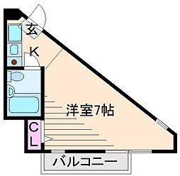 神奈川県横浜市港北区綱島西4の賃貸マンションの間取り