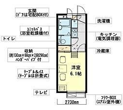 神奈川県横浜市戸塚区深谷町の賃貸アパートの間取り