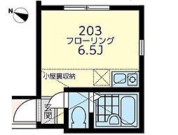神奈川県横浜市西区戸部町3丁目の賃貸アパートの間取り