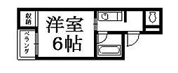 京都府京都市東山区下馬町の賃貸マンションの間取り