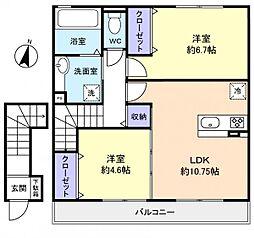オーベルジュ大和田[2階]の間取り