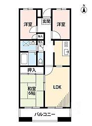 サニーコート江坂[3階]の間取り
