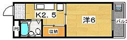 大阪府枚方市交北1丁目の賃貸マンションの間取り
