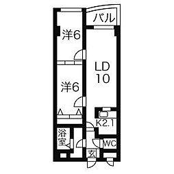 RICH八軒・7M[4階]の間取り