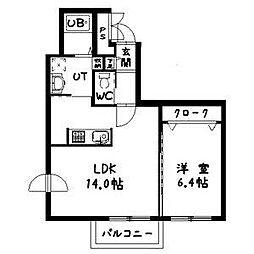 ルトゥール[3階]の間取り