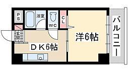 Osaka Metro御堂筋線 新大阪駅 徒歩8分の賃貸マンション 3階1DKの間取り
