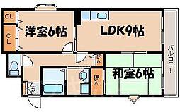 広島県安芸郡海田町南本町の賃貸マンションの間取り
