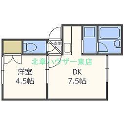 MORE・BONHURE (モアボヌール)[2階]の間取り