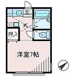 神奈川県相模原市中央区共和2丁目の賃貸アパートの間取り