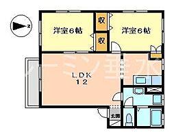 エクセル北川[1階]の間取り