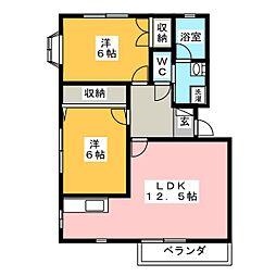井草ハイツB[2階]の間取り