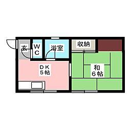 清風荘[2階]の間取り