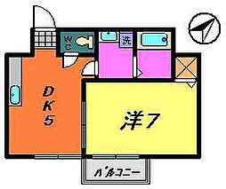 パールハイツA(稲毛)[202号室]の間取り