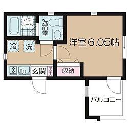 NSGATE川崎・日進町 2階1Kの間取り