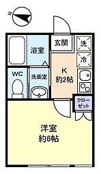 フォレストハウス習志野B棟[1階]の間取り