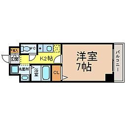 ボヌール新栄[5階]の間取り