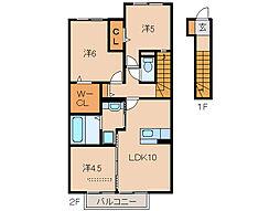 D−room内原[2階]の間取り