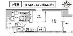 ミラージュパレス南船場[202号室号室]の間取り