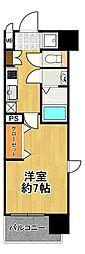 フォーリアライズ大正ソーレ 3階1Kの間取り