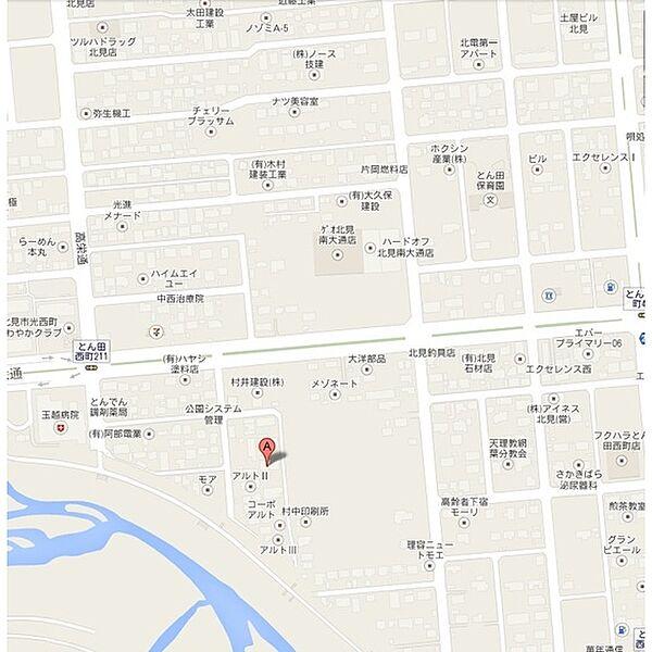 クリーンハイツ[1F3号室]の地図