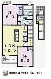 エヴィメリアI[2階]の間取り