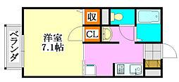グランドール21 A・B棟[2階]の間取り