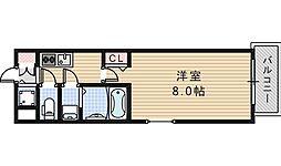 レジュールアッシュ天王寺堂ヶ芝[2階]の間取り