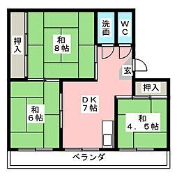 下山ビル[3階]の間取り