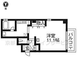クチュ−ル堀川[4階]の間取り