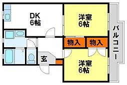 ファミールしのはら[3階]の間取り