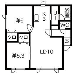 フォレスト31[202号室]の間取り