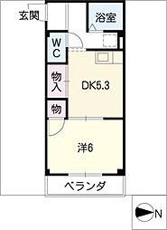 マンションフォレスト[2階]の間取り