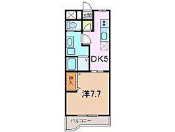静岡県三島市徳倉の賃貸マンションの間取り