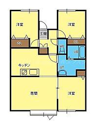エーピークリスタル[2階]の間取り