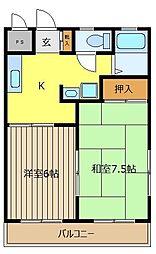 グリーン鶴ケ舞[2階]の間取り