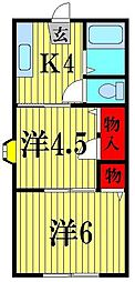 コーポオオツキ[2階]の間取り