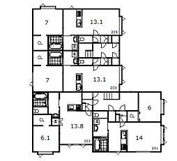 豊岡1−1新築[203号室]の間取り