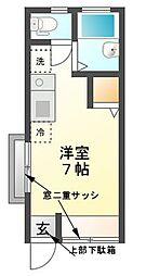 東京都三鷹市上連雀2丁目の賃貸アパートの間取り
