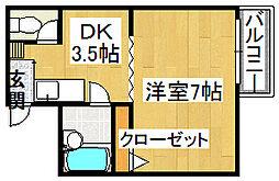 グレード1住道[1階]の間取り