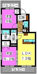 カームガーデン寺塚[2階]の間取り