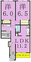 埼玉県三郷市中央5丁目の賃貸アパートの間取り