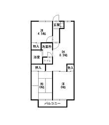 シャトレセーラム[2階]の間取り