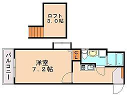 リンピオウノ[2階]の間取り