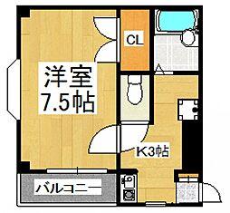 松下マンション[2階]の間取り