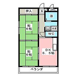 アメデハイツ[2階]の間取り