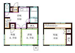 [一戸建] 東京都東久留米市南沢4丁目 の賃貸【/】の間取り