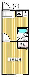 成城5丁目アパート[1階]の間取り