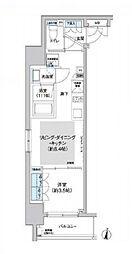 クレヴィアリグゼ西新宿[2階]の間取り