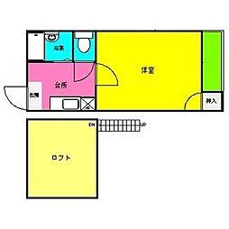 MYC野間[2階]の間取り