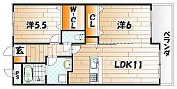 LE GRAND BLEU(グランブルー)[7階]の間取り